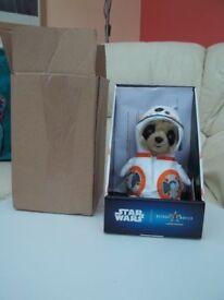 STAR WARS -Collectable, cute Meerkat Star wars toy.