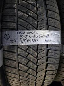 1 winter tire continental contiwintercontact runflat 245/45r18