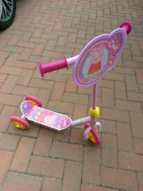 Pink Peppa Pig Scooter