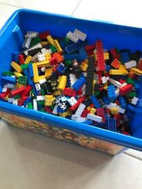 LEGO. Big tub of LEGO with lid