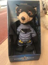 Limited edition Meerkat Movies Soft Toy, Batman.