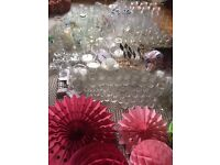 JOB LOT WEDDING tableware and decorations for DIY wedding - HUGE COLLECTION!