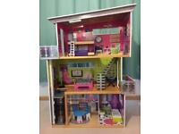 Tall doll house, suitable for Barbie size doll with accessories
