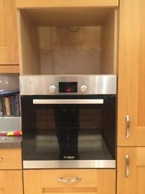 Nearly new bosch single oven