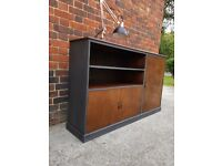 Vintage Rustic industrial bookcase/drawers/utility sideboard/media console. Hall storage. LOCAL DEL