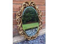 Solid Pine Atsonia Ornate Decorative Gold Coloured Living Room/Bedroom Mirror