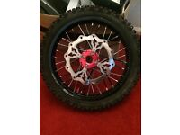 Pit bike parts.... wheels/forks/plastics etc