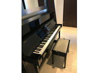 YAMAHA Piano with Stool in Gloss Black - EXCELLENT CONDITION