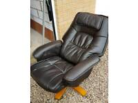 Fantastic Leather reclining chair and footstool