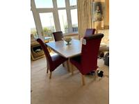 Marble table and four new chairs