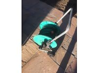 Garden hose reel and hose included
