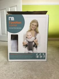 Mothercare 3way baby carrier