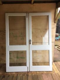 Wooden french doors NOT upvc