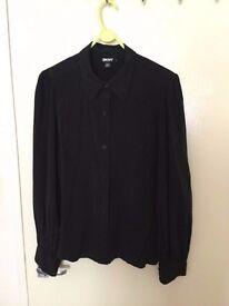 Brand new DKNY silk black 100% silk shirt only £20