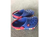 Crocs Lego sea blue/ red