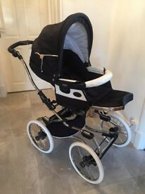 Bebecar Classic Stylo Class Chrome Combi Travel System (Oxford Blue)