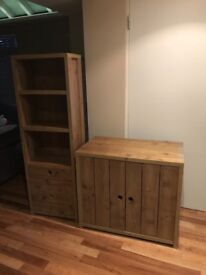 Next Children's Bookcase with drawers and cupboard - Oak effect