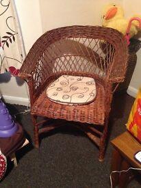Wicker tub chair