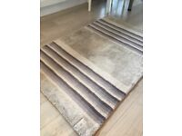 Next 150cm X 100cm beige and grey rug