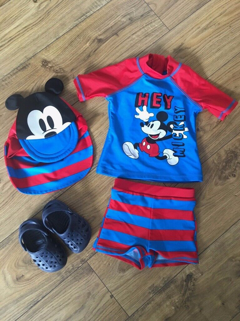e5375c9df 12-18 months Mickey Mouse Disney baby swim set + beach shoes Excellent  Condition | in East Kilbride, Glasgow | Gumtree