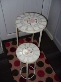 Mosaic style tables