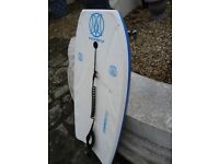 MOREY MACH TUBE RAIL 9TL BODY BOARD WITH LEG STRAP 42INCH LONG 21INCH WIDE ONLY £20 FOR QUICK SALE