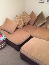 4-seater corner sofa and matching foot stall