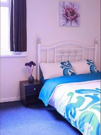 Furnished double room. Basic cable channels and wifi. 100 pw including bills. Non smoking.