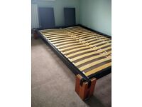 Solid Wood European Double Bed Frame
