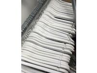 White hangers ( combination of clip, trouser and standard)