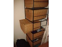 Rattan Wicker chest of drawers - 5 drawers