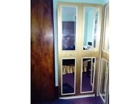 Gold upcycled french ornate mirrored wardrobe