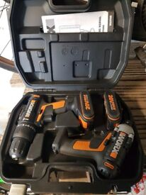 WORX drill and driver with 2 batteries