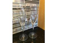 Galway crystal champagne flutes glasses x2 - never used