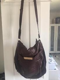 Burgundy, slouch design NEW LOOK bag