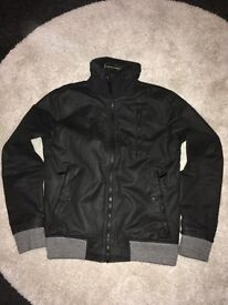 Supedry Black Jacket with Green Trimmings - Excellent Condition