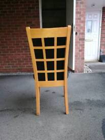 2 solid wood Hopewells dining chairs