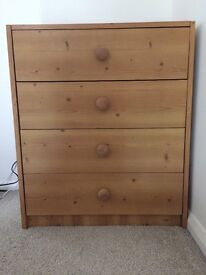 Medium sized chest of drawers, good condition
