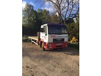Man 180 7.5te flatbed lorry