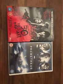 DVDs- thriller/horror