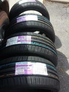 BRAND NEW WITH LABELS ULTRA HIGH PERFORMANCE TOYO EXTENSA  ' V ' RATED  225 / 40 / 18 ALL SEASON TIRE SET OF FOUR.