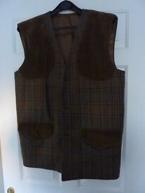 "Man's tweed shooting vest. 42""chest. As new."