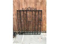 Solid iron gate