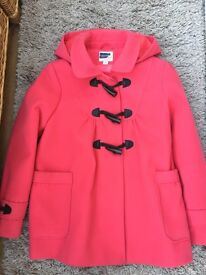 Girl's Next Coral coat size 11-12 years