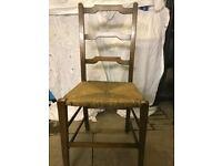 Vintage Rush Seat chair