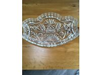 Glass dressing table tray
