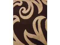 Brown and Beige Rug size 80cm-150cm