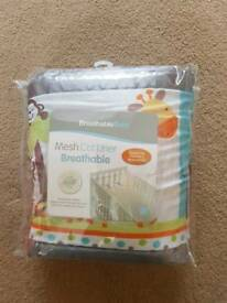Breathable Mesh Cot Liner