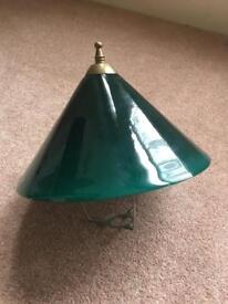 Antique Green glass desk lampshade