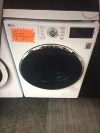 White LG 9kg washing machine 1600 spin